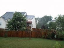 storm calms down