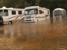 Flooding In Aberdeen, Moore County NC