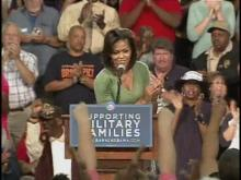 Web Only: Michelle Obama speaks to military families