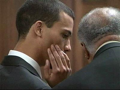 James Johnson in court Feb. 16, 2009, shortly before pleading under an Alford plea to attempted misprision of a felony in the June 28, 2004, slaying of Brittany Willis. Misprision of a felony means failing to notify authorities of a crime.