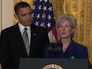 President Barack Obama has chosen Kansas Gov. Kathleen Sebelius for health and human services secretary.