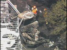 Sky 5: Truck fire on I-40