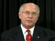 N.C. State University Chancellor James Oblinger discusses the sudden resignation of Provost Larry Nielsen.