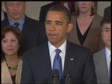 Obama talks about GM bankruptcy