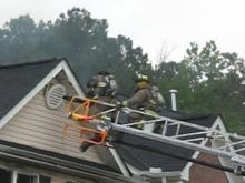 User-submitted video of Apex townhome fire