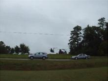 Video of Military helicopters land in Rolesville field