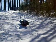 sledding on sunday