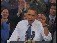 Obama talks about health care at Pennsylvania college