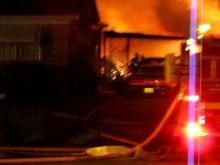 late night blaze in wilson