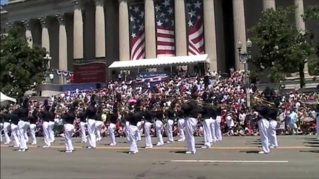 The Union Pines High School Vikings Marching Band participated in the National Independence Day Parade in Washington, D.C., on July 4, 2010.