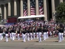 Union Pines High School Band Marches in Washington DC
