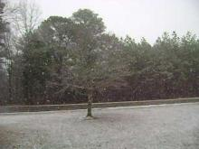 Snow falling in Vance County