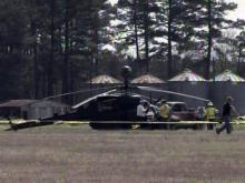 Military helicopter down in Linden
