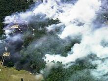Sky 5: Durham brushfire