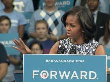 First lady makes campaign stop at UNC