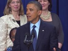 Obama talks about fiscal cliff negotiations