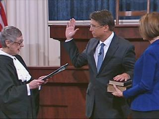 McCrory takes oath of office