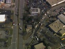 Sky 5: Fire at Raleigh gas station