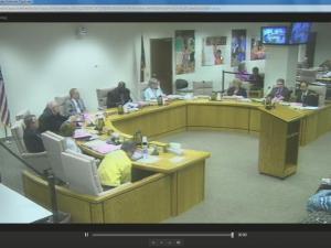 Wake County school board meeting