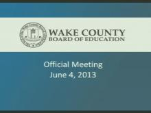 Wake school board work session