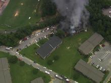 Sky 5: Fire engulfs Durham apartment building