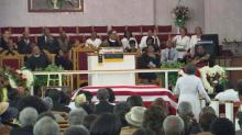 Funeral service for 'Bicycle Man' Moses Mathis