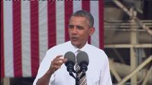Obama speaks on economy, shutdown