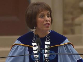 Chancellor Carol Folt on Oct. 12, 2013, addresses the University of North Carolina at Chapel on the university's 220th birthday. Folt was also installed as the university's 11th chancellor and first female leader.
