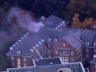 UNC dorm on fire