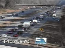 I-40 delays on traffic cam