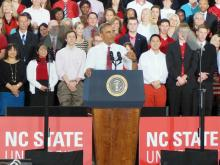 President Obama speaks at N.C. State