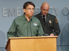 McCrory: Storm's unpredictability presents challenges