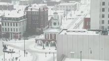 Downtown Fayetteville swathed in snow
