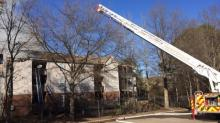Sky 5: Fayetteville apartment fire