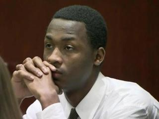 Shabar Marshall sits in a Wake County courtroom on March 17, 2014, before his trial in connection with two home invasions in December 2012. A judge later declared a mistrial in the case.