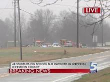 Students injured in Johnston bus crash