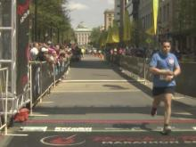 Runners pour across finish line