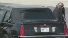 Obama lands at Charlotte airport