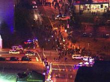 Sky 5: Protest in downtown Durham