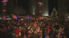Raleigh New Year's acorn kids drop