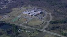 Sky 5 flies over Heritage High School