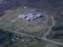 Sky 5 flies over Heritage High School