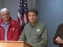 Gov. McCrory, state officials discuss wet weekend and flooding threat