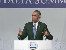 Obama speaks at G-20 summit in Turkey