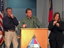 McCrory, state officials discuss snowstorm