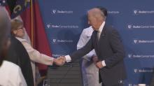 VP Biden brings cancer fight to Duke