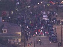 Sky 5: Officer-involved shooting protest blocks streets in downtown Raleigh