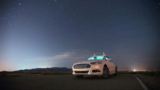 Ford recently put its autonomous vehicle to the test in the Arizona desert to see how it performed in complete darkness. Researchers turned off the car's headlights, leaving it to tackle a curvy test road without using its light-reliant camera. (Deseret Photo)