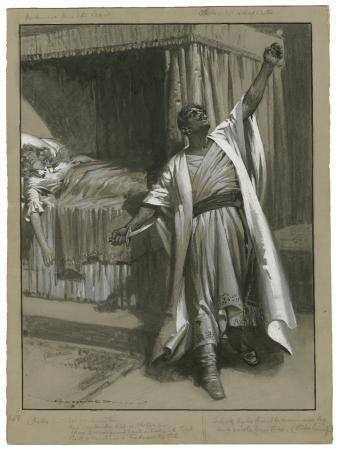 Othello, Act V, scene 2. Drawing, 1905. (Deseret Photo)
