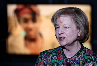 Baroness Emma Nicholson of Winterbourne speaks during an interview Thursday, April 21, 2016, in Salt Lake City. She spoke about refugees in Iraq and around the world. (Deseret Photo)